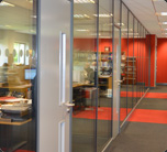 FULL HEIGHT GLAZED PARTITIONS
